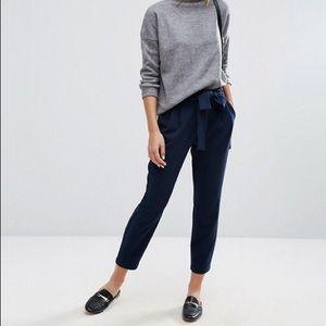 Selected Femme Paper Bag Drawstring Pant